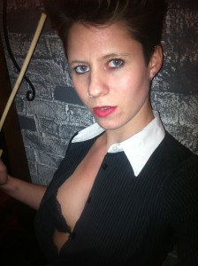 London Mistress Pip ready to cane a naughty school boy